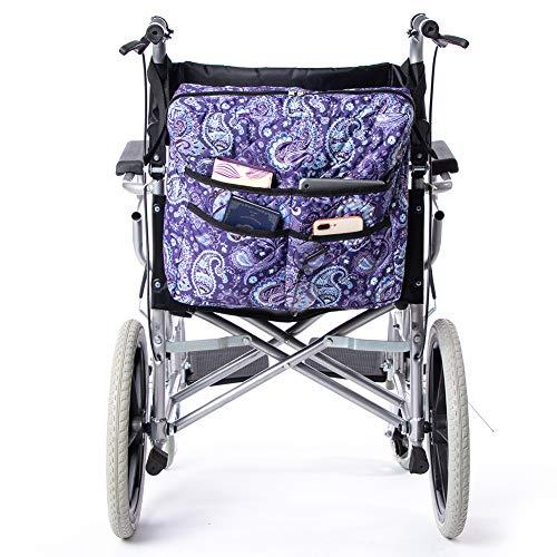 QEES Rollstuhl-Sitztasche mit 6 Fächern, Universal Mobility Scooter-Tasche, Rollator- und Rollator-Aufbewahrungskoffer, Rollstuhltasche HYGJB220 (Purple)