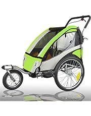 Remolque de niños para bicicleta, con doble amortiguación, con juego de running - LEMON 504S-02