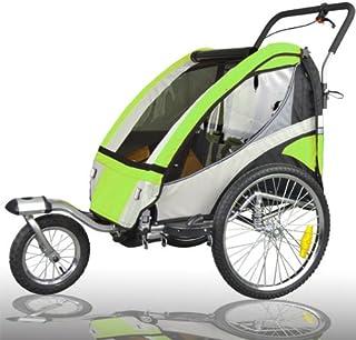 comprar comparacion Remolque de bici para niños completamente amortiguado con kit de footing, color: LEMON 504S-02