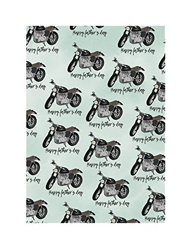 Amelia Florence - Geschenkpapier – Triumph Motorrad – Happy Fathers Day