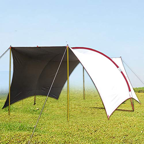 APENCHREN Schaduwzeil Waterdicht/Camping Pergola, 8 Personen Barbecue Tent - voor vissen, Tuin, Outdoor en Strand (6x4.3x2.4m/19.6x14.1x7.8ft) Kleur: wit