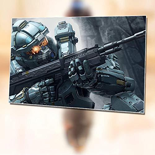 Wandaufkleber Halo Poster Spiel Selbstklebende Malerei 60X40Cm Tapete Poster Umgebenden Schlafsaal Raumdekoration Malerei A