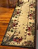Unique Loom Barnyard Collection French Country Cottage Roosters Cream Runner Rug (2' 7 x 10' 0)