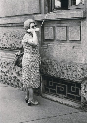 Lady Outside On Telephone - Avanti Funny Birthday Card