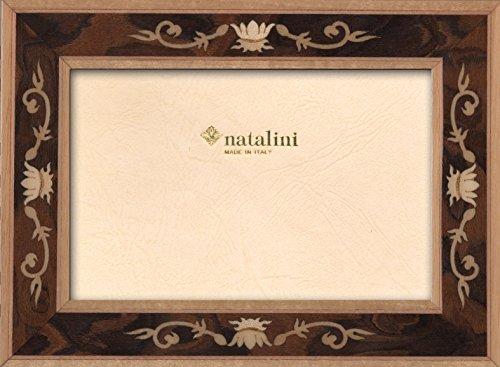 Natalini Luigi XIV Noce 10X15 Bilderrahmen mit Unterstützung für Tisch, Tulipwood, Nussbaum, 10 X 15 X 1,5