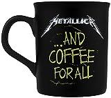 Metallica and coffee for all Tasse mattschwarz