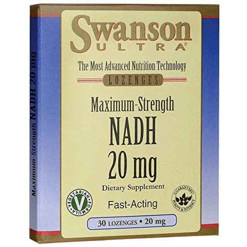 Maximum Strength Nadh Fast-Acting 20 mg 30 Tabs by Swanson Ultra