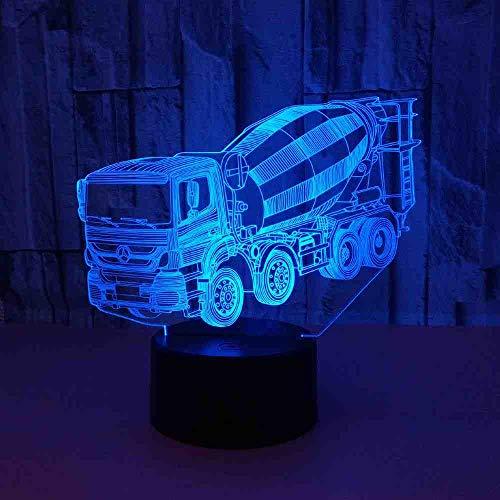 RJGOPL mixer 3D licht voeding LED nachtlicht kleurrijke desktop kleine 3D-lamp kinderkamer licht usb LED 3D lampen