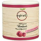 myfruits Himbeerpulver - ohne Zusätze, zu 100% aus Himbeeren, gefriergetrocknet, Fruchtpulver für Smoothie, Shakes & Joghurt (70g)