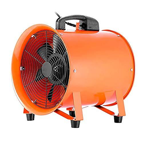 BCXGS Extractor De Aire De Cocina, Ventilador Extractor Portátil con Asa, Escape De Alta Velocidad, para Fábricas, Talleres Y Sótanos, 15,7 Pulgadas
