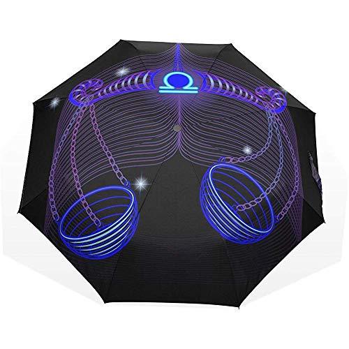 Weegschaal Winddicht UV Bescherming Grote Rechte Paraplu voor regen Outdoor met Draagtas