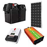 SEKIYA ポータブル電源キット 小学生でも組立られる簡単配線で自家発電キット 1200Wh容量 1000w出力 100W発電 MPPTコントローラー