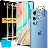 [2+2 Pack] UniqueMe TPU Protector de Pantalla Compatible con OnePLus 9 Pro y Protector de lente de cámara, [Cobertura máxima][Sin Burbujas] HD