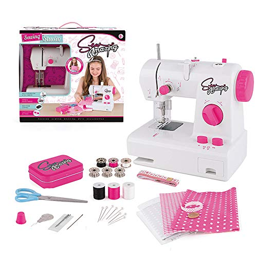 Sew Amazing TY6143 Studio, Complete Textile Sewing Machine Set for Kids