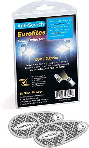 Unbekannt Eurolites N92160 Headlamp Adaptors for Driving in Europe