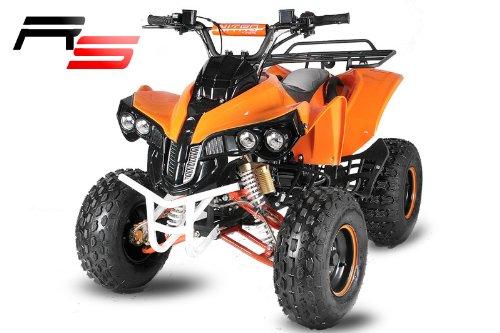 Quad ATV mit Schneeschieber Schneeschild aufgebaut 100cm Warrior 3G8 RS Kinderquad Schneeräumer Schnee