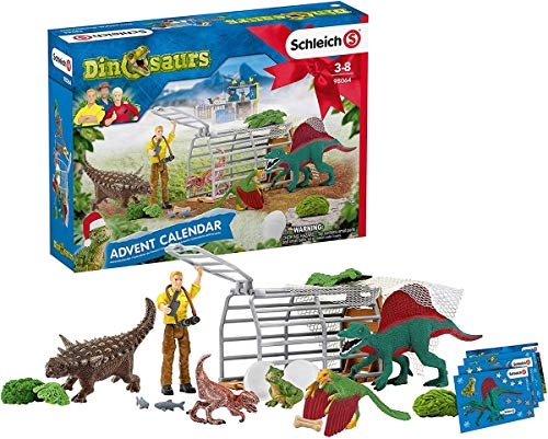 Schleich Dinosaurs Advent Calendar 2020 24-piece Educational Playset for Kids Ages 4-12