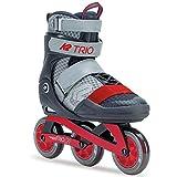 K2 30C0230.1.1 Rollers en Ligne Mixte Adulte, Gris/Rouge, Taille : 43,5