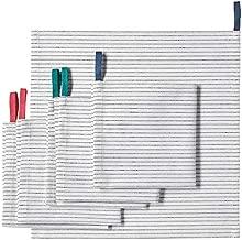 """Ikea Napkin, White/Black, 33x33 cm (13x13"""")(Pack of 6)"""