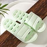 JFHZC Zapatos de Playa,Zapatillas de baño Unisex Antideslizantes con Orificio de Drenaje, Sandalias de Secado rápido para baño, Piscina, Gimnasio-Green_40-41