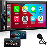 Bluetooth Car Stereo Apple Carplay: in-Dash Double Din...