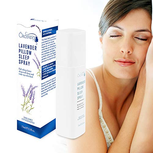 Ökostein Lavendel Kissenspray Sleep Spray - Lavendelspray Neue Updated Formel Schlafspray mit naturrein Lavendelöl Pflanzenessenz für guten Schlaf Entspannung Beruhigungseinschlafen Raumduft 1x 75 ml