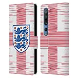 Head Case Designs sous Licence Officielle England National Football Team Drapeau 2 Crête 3 Coque en Cuir à Portefeuille Compatible avec Xiaomi Mi 10 5G / Mi 10 Pro 5G
