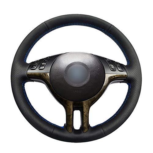 DBBXYQ Couvre Volant en Cuir Noir Cousu /à la Main pour BMW s/érie 3 E46 2000 2005 s/érie 5 E39 2000 2003 E53 X5 1999