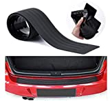 Advgears Rear Bumper Protector Guard Universal Black Rubber Scratch-Resistant Trunk Door Entry Guards Accessory Trim Cover for SUV/Cars(40.9Inch)