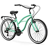 sixthreezero Around The Block Women's 21-Speed Beach Cruiser Bicycle, 26' Wheels, Mint Green...