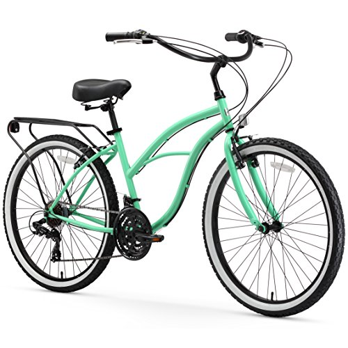 sixthreezero Around The Block Women's 21-Speed Beach Cruiser Bicycle, 26