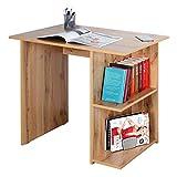 RICOO WM089-EW Escritorio pequeño 82x76x60cm Mesa Ordenador Organizador Oficina Muebles de hogar Buro PC Gaming Secreter Madera Roble marrón