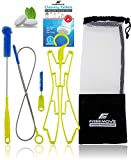 Hydration Bladder Cleaning Kit 5in1 | NO MORE DIRT | Universal for Water Bladder Bag | Camelback Cleaner Kit | Large Brush, Small Brush, Snake Brush, Drying Hanger, Carry Bag & 2x Cleaning Tablets