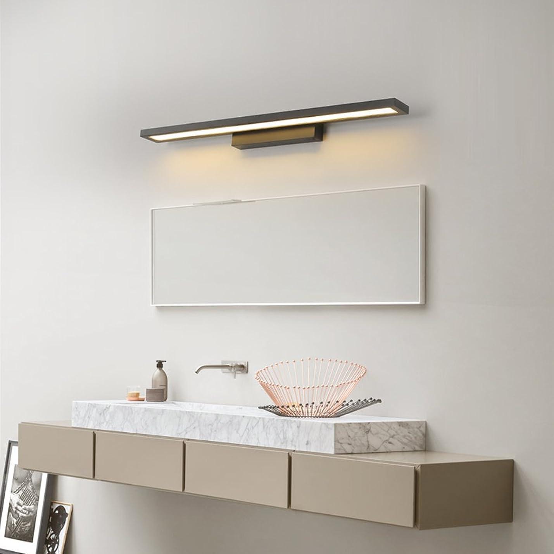 を除く面積誇りLEDミラーライト、高輝度、洗面所のトイレバス、アルミボディ、防水、インテリア照明、ウォールライト、ブラック25W60cm