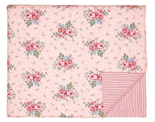 GreenGate Tagesdecke Quilt Marley in Pale Pink 140 X 220 cm gesteppt Baumwolle