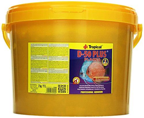 Tropical D-50 Plus Farbförderndes Flockenfutter für Diskusfische, 1er Pack (1 x 11 l)
