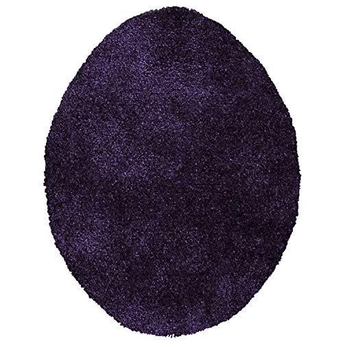 Maples Rugs ColorSoft Non Slip Washable & Quick Dry Elongated Toilet Seat Lid Cover [Made in USA], Eggplant