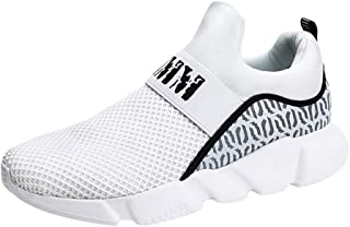Lailailaily Men's Summer Woven Breathable Sneaker Casual Lightweight Fashion Slip-On Sneakes Shoes