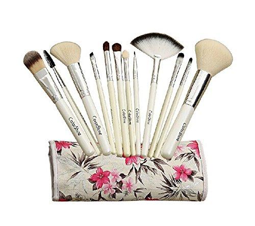Ensemble de 12 professionnel pinceau maquillage, blanc