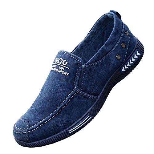Juleya Herren Damen Loafer Canvas Sneaker Flache Schuhe Unisex Freizeitschuhe Classic Slip-on Low-Top Arbeitsschuhe Atmungsaktiv Schweißabsorbierend