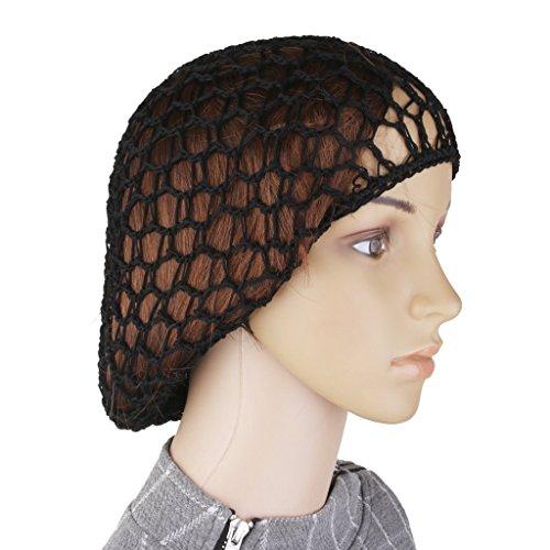 Ogquaton Retro Snood Cap pour cheveux longs - Silky Sleep Night Bonnet Cap - Filet à cheveux au crochet pour la danse classique et le travail noir de