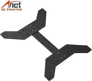 Aibecy Aluminium Alloy Y Carriage Plate Upgrade Placa de placa fija Accesorio de impresora 3D para fijar la plataforma de calentamiento Heatbed para Anet A8 Plus Hotbed Soporte Cama con calefacción