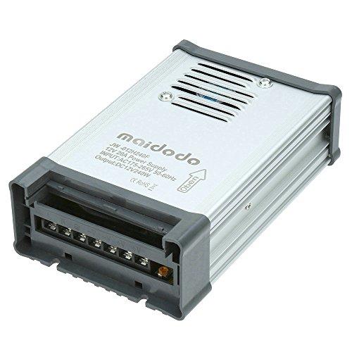 Maidodo AC 110V/220V a DC 12V 20A 240W IP53 Transformador de Voltage Alimentación de al aire libre para Impermeable Tira de LED