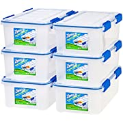 IRIS USA, Inc. Ziploc WeatherShield 16 Quart Storage Box, 6 Pack, Clear