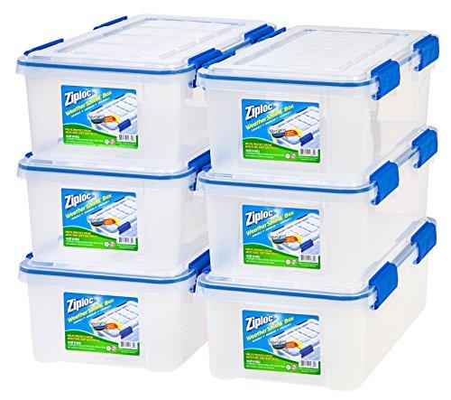 Ziploc WeatherShield 16 Quart Storage Box 6 Pack Clear