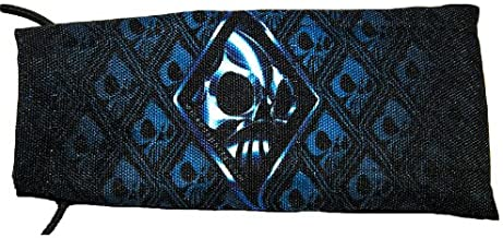 Wicked Sports Paintball Barrel Cover/Sock - Wicked Skulls - Blue