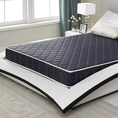 """AC Pacific 6"""" Foam Mattress Covered in a Stylish Navy Blue Waterproof Fabric, Full, Navy Blue"""