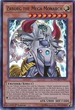 YU-GI-OH! - Zaborg The Mega Monarch  NECH-EN037  - The New Challengers - 1st Edition - Ultra Rare
