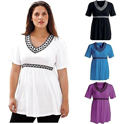 LUNIWEI Women Plus Size Summer Shirts Casual Blouse
