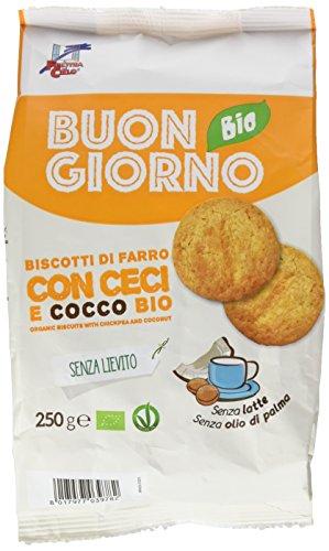 La Finestra Sul Cielo Buongiornobio Biscotti di Farro con Ceci e Cocco senza Lievito Bio - 250 g